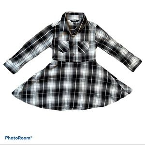 4/$20 Girls George long sleeve plaid dress